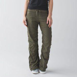 Lululemon Dance Studio Pant II Lined Fatigue Green